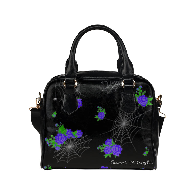 Flowers and Webs Purse Shoulder Handbag (Model 1634)