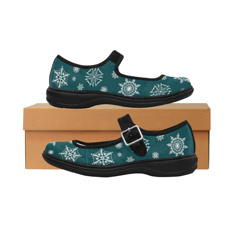 Scary Snowfall Mary Jane Shoes