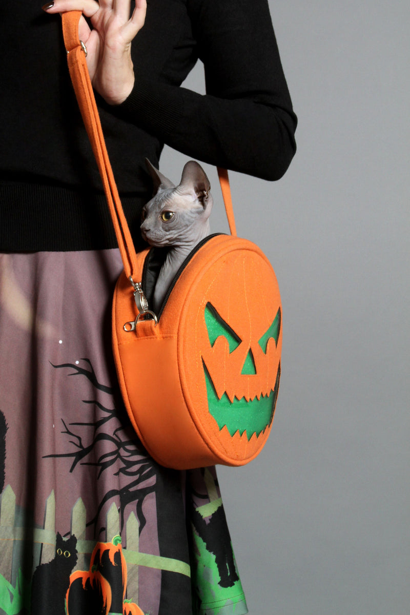Two Faced Pumpkin Bag