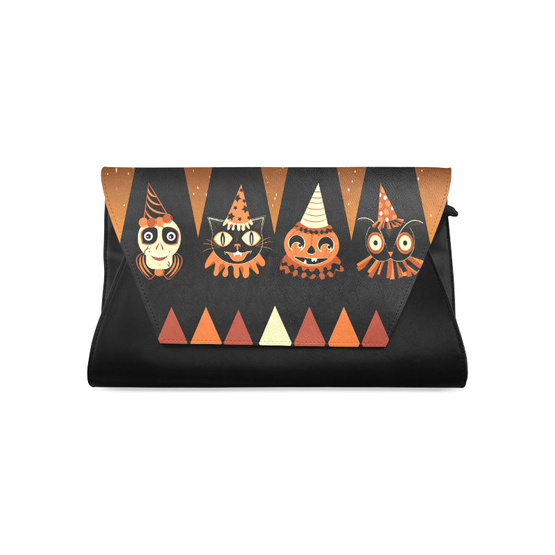 Halloween Party Animal Campy Clutch Bag