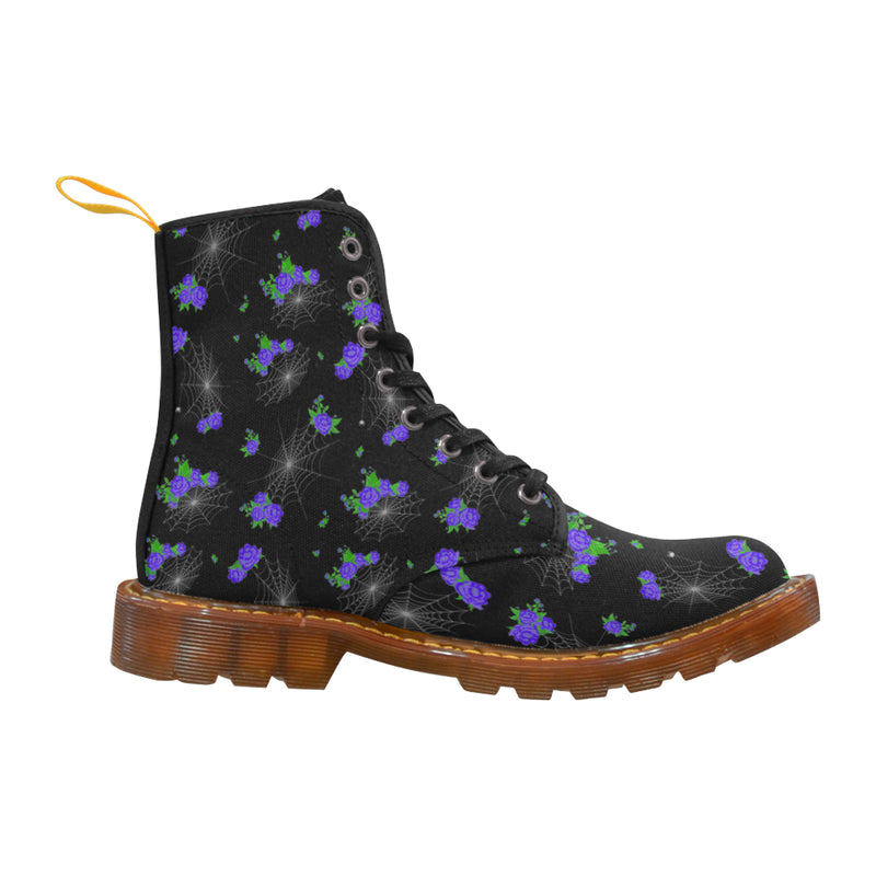 Flowers  Spiderweb Boots Martin Boots For Women Model 1203H