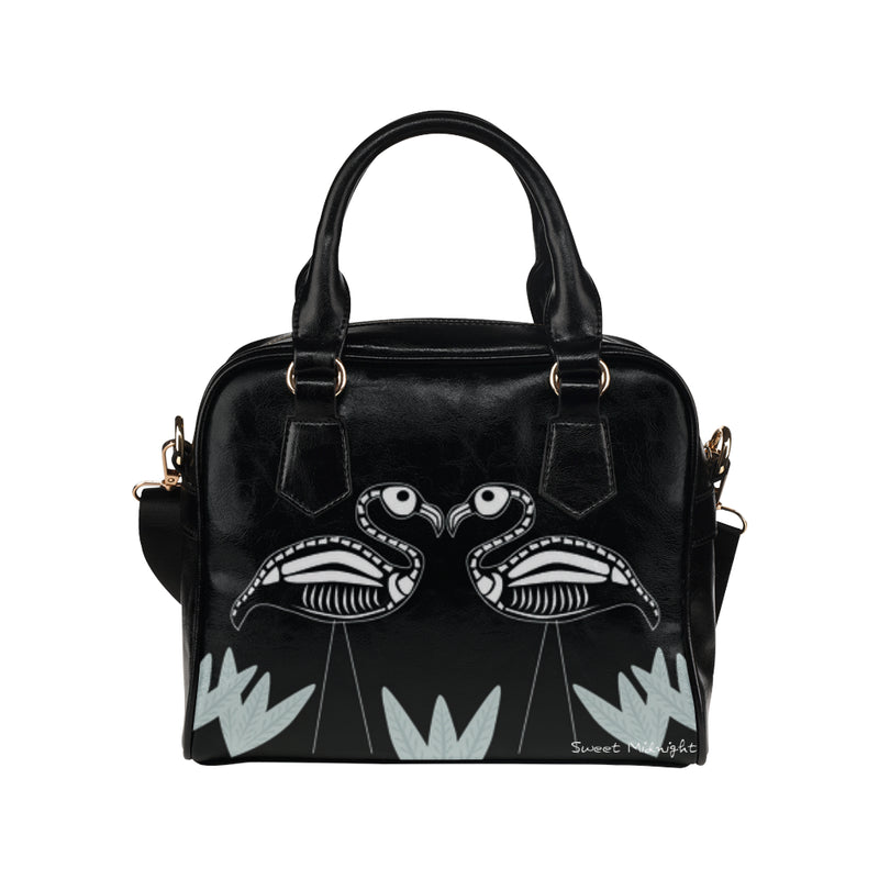 Skeley Flamingo Haunted Handbag