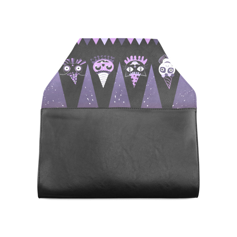 Halloween Party Animal Purple clutch