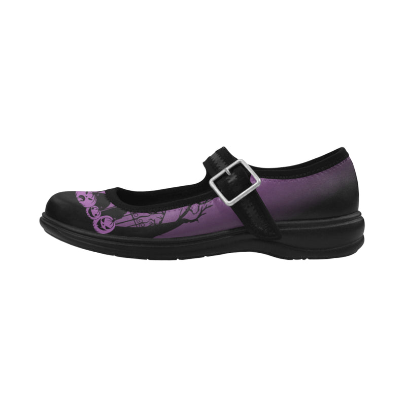 Trick or Treat in the Graveyard Mary Janes Virgo Instep Deep Mouth Shoes