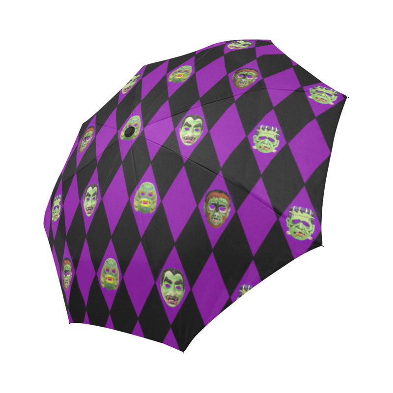 Vintage Monster Mask Umbrella Auto-Foldable Umbrella
