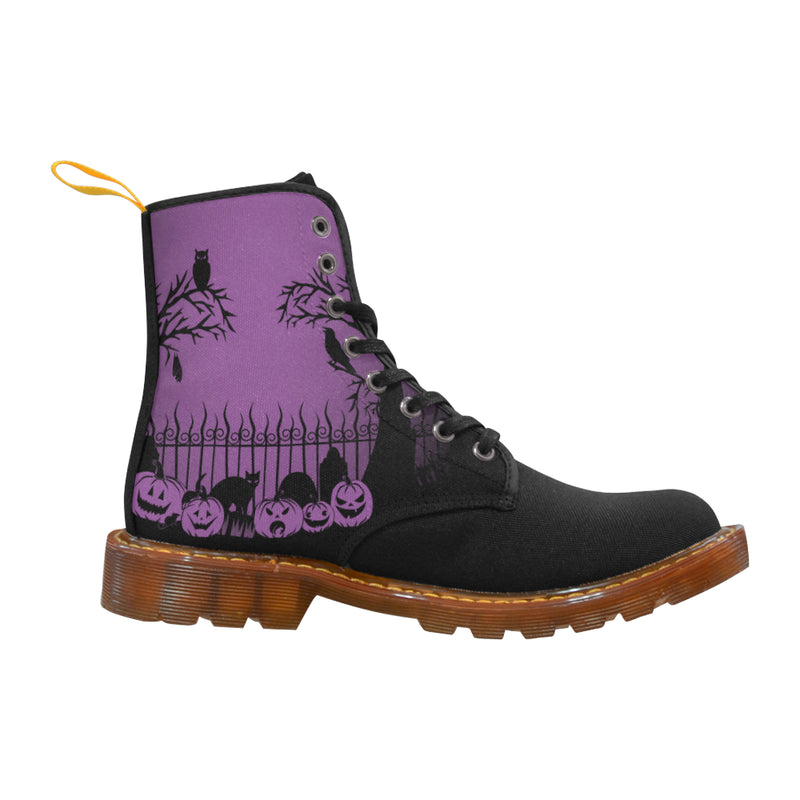Trick or Treat in the Graveyard Boots Martin Boots For Women Model 1203H