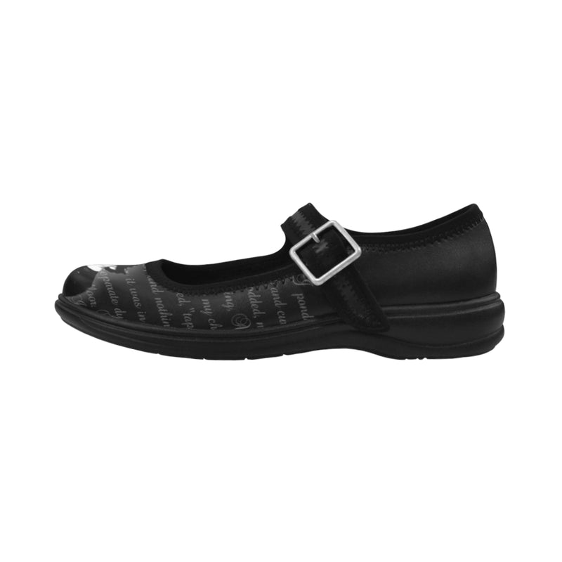 Poe Mary Janes Virgo Instep Deep Mouth Shoes