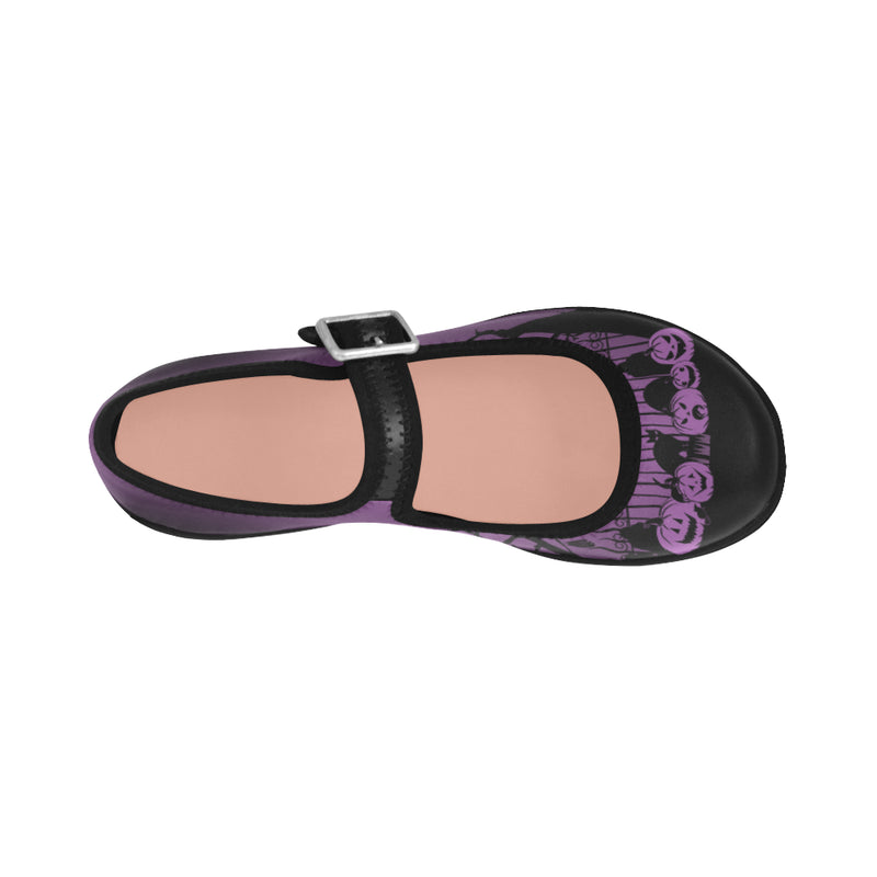 Trick or Treat in the Graveyard Mary Janes Shoes Purple