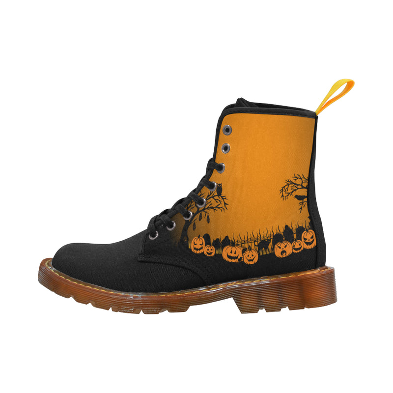 Trick Or Treat in the Graveyard Mens Boots Martin Boots For Men Model 1203H