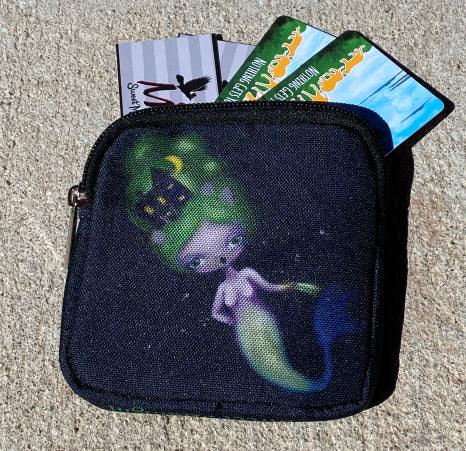 Celestial Mermaid Coin and Card Bag