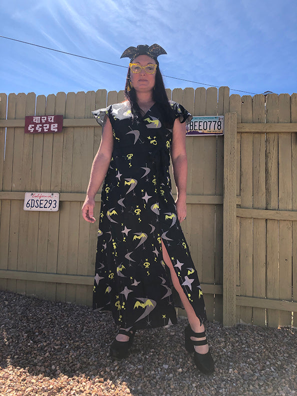 Mid Century Monster Wrap Dress