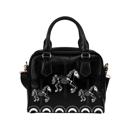 Midnight Carousel Shoulder Handbag