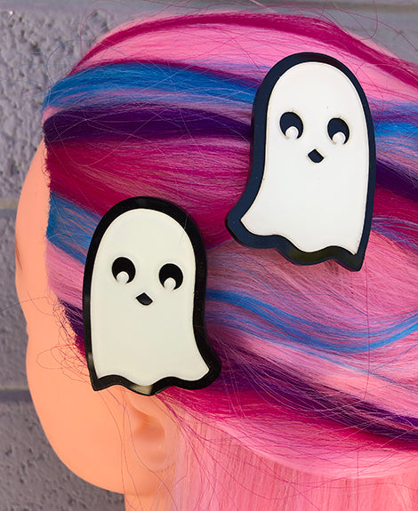 Glowing Ghosts Hair Clips / Brooches