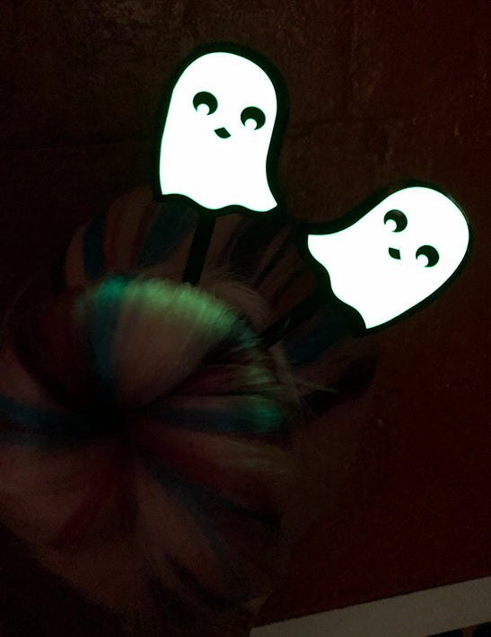 Hair Rising Glowing Ghosts Hair Sticks