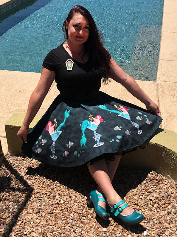 Mermaid Martini Flirty Skirt