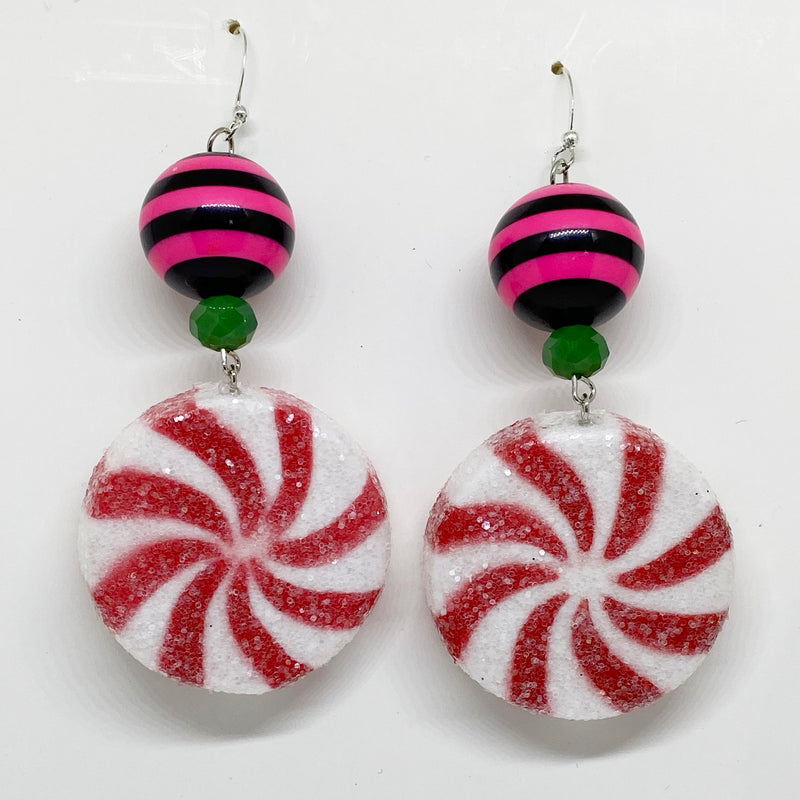 Peppermint Party Earrings