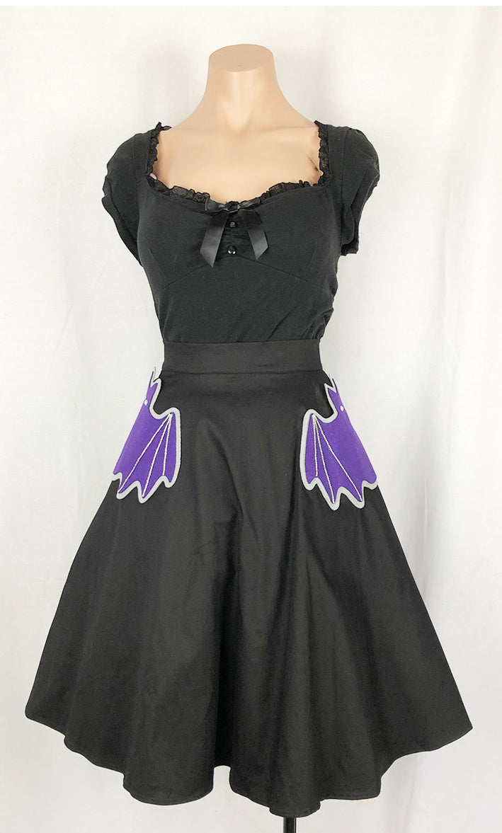 Going A Little Batty Punny Pocket Skirt