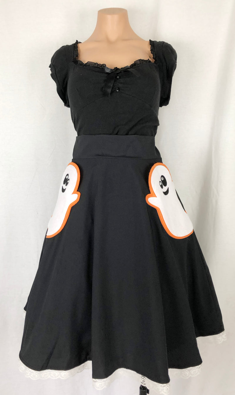 Ghosts Just Want To Have Fun Punny Pocket Skirt