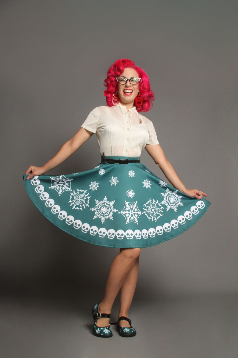 Scary Snowfall Flirty Skirt