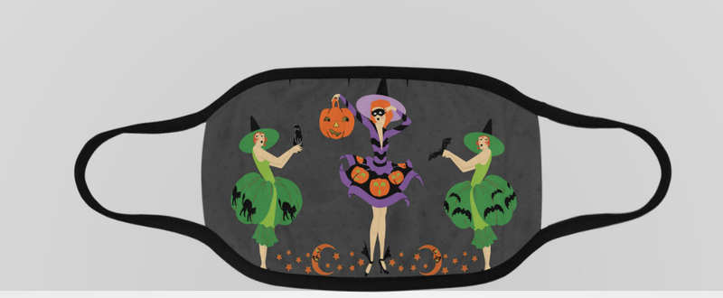 Flapper Halloween Face Mask