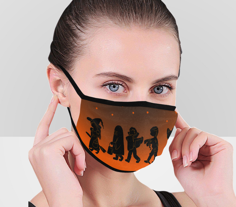 Trick or Treaters Face Mask
