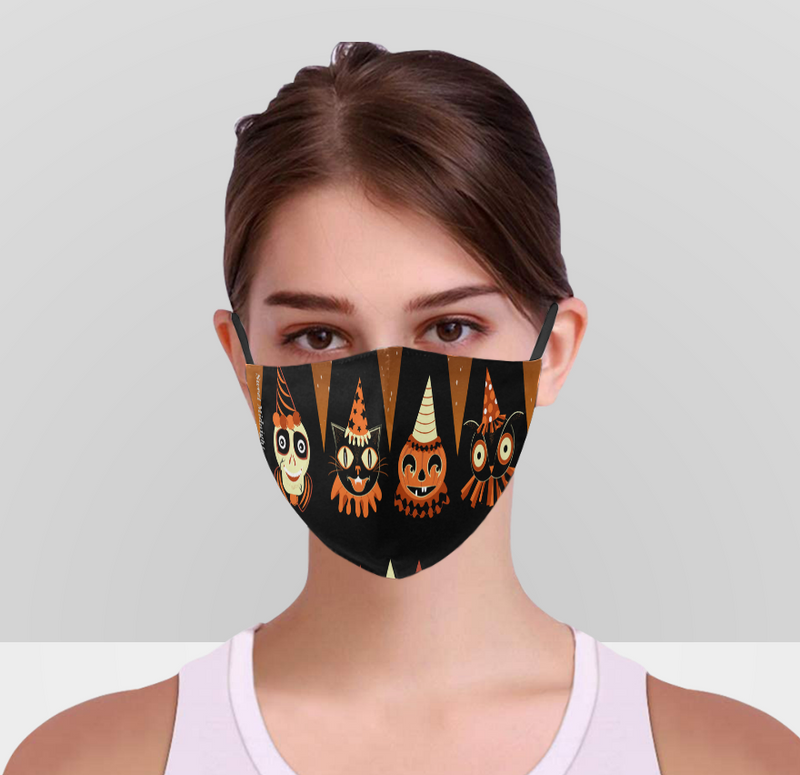 Halloween Party Animal Face Mask With Adjustable Ear Strap