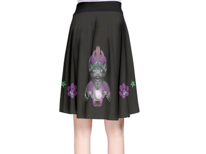 Feline Fortune Teller Flirty Skirt