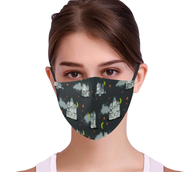 Haunted House Face Mask