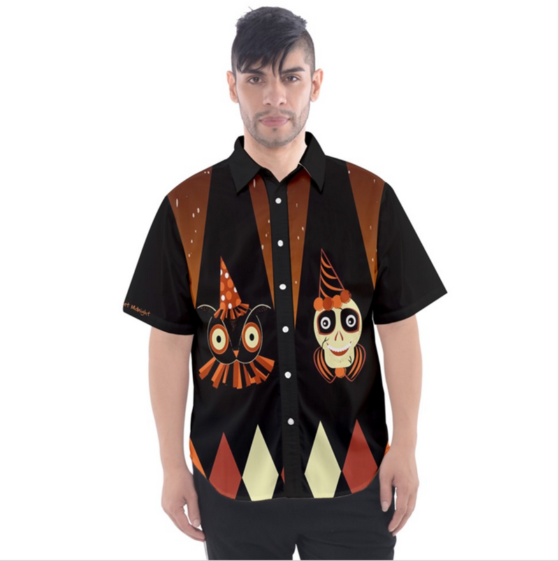 Halloween Party Men's Button Down Shirt