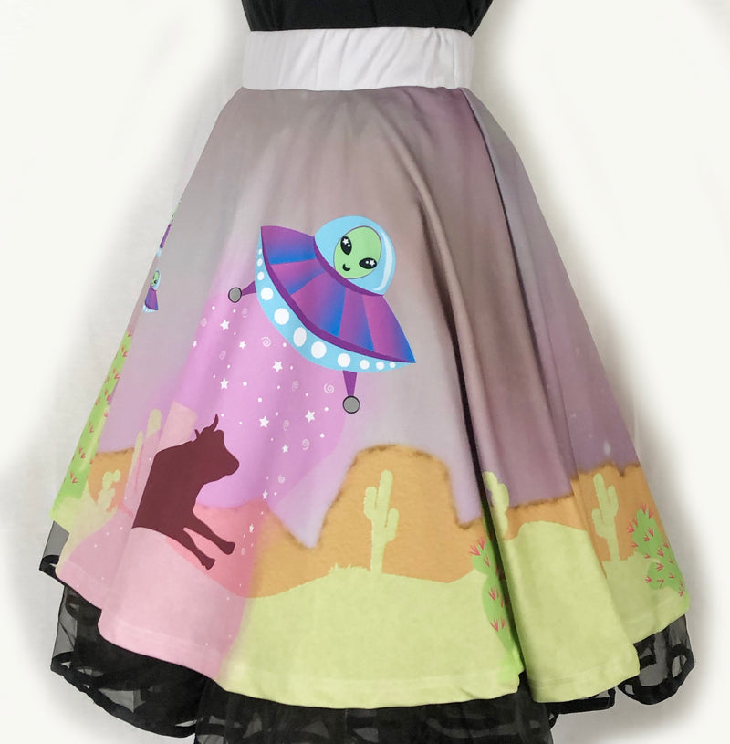 Take Me To Your Mother Ship Flirty Skirt