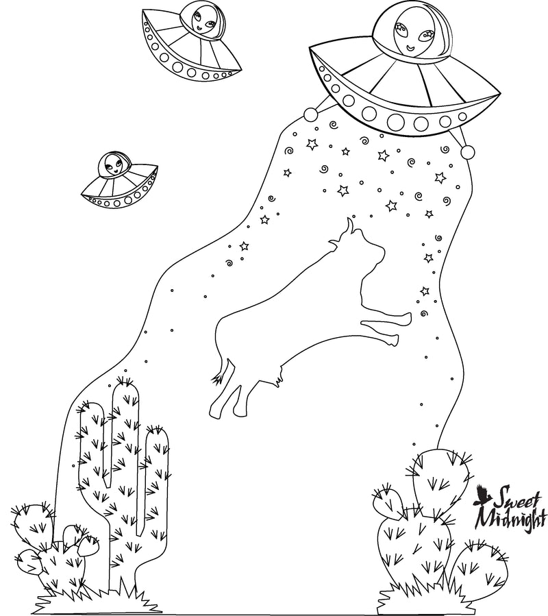 Sweet Midnight Coloring Page Take Me To Your Mother Ship
