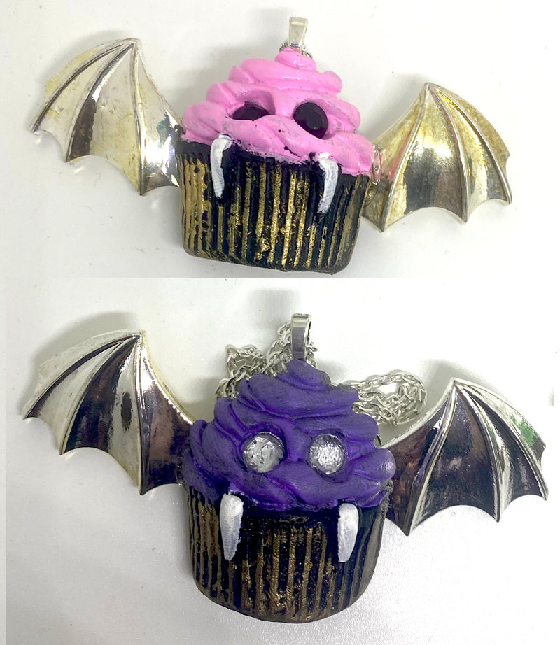 Vampire Cupcake Necklaces
