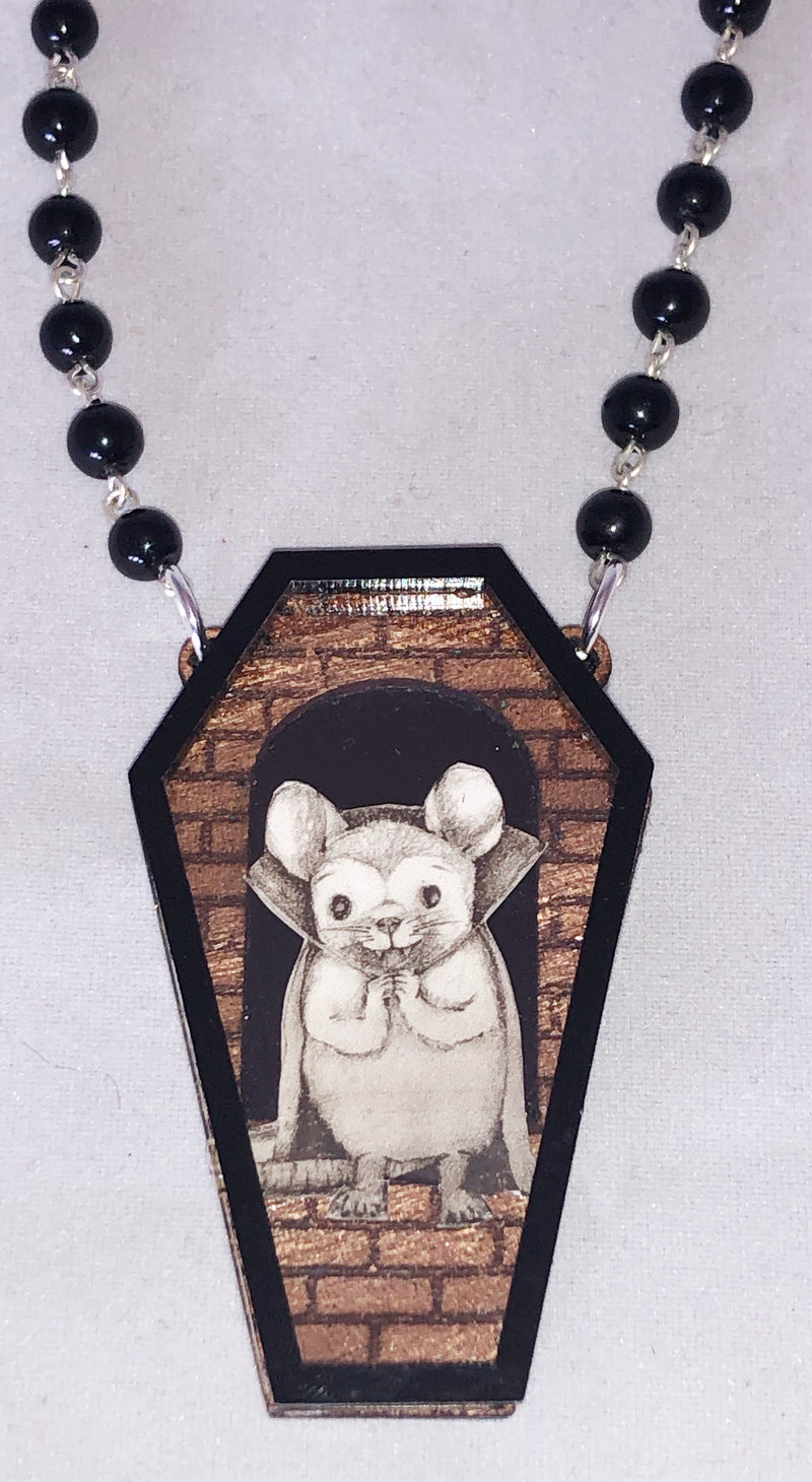Vampire Mouse Necklace