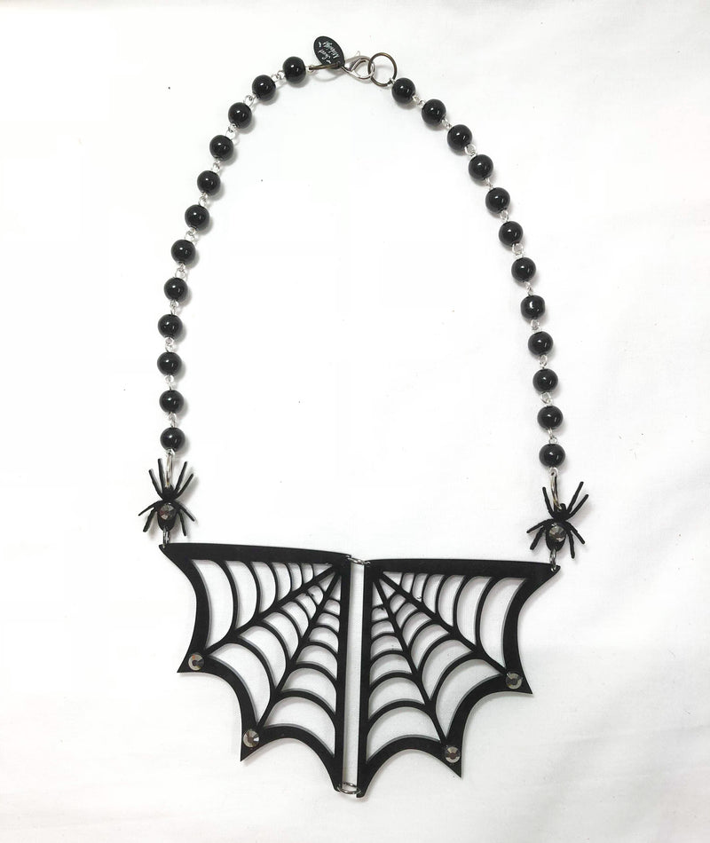 Fancy Black Widow Necklace