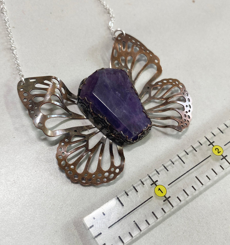 Winged Coffin Necklace