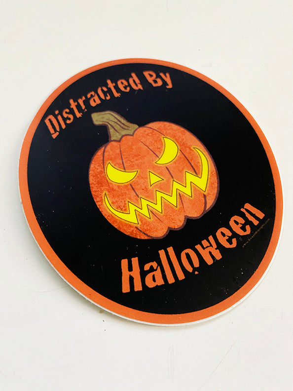 Distracted by Halloween Sticker