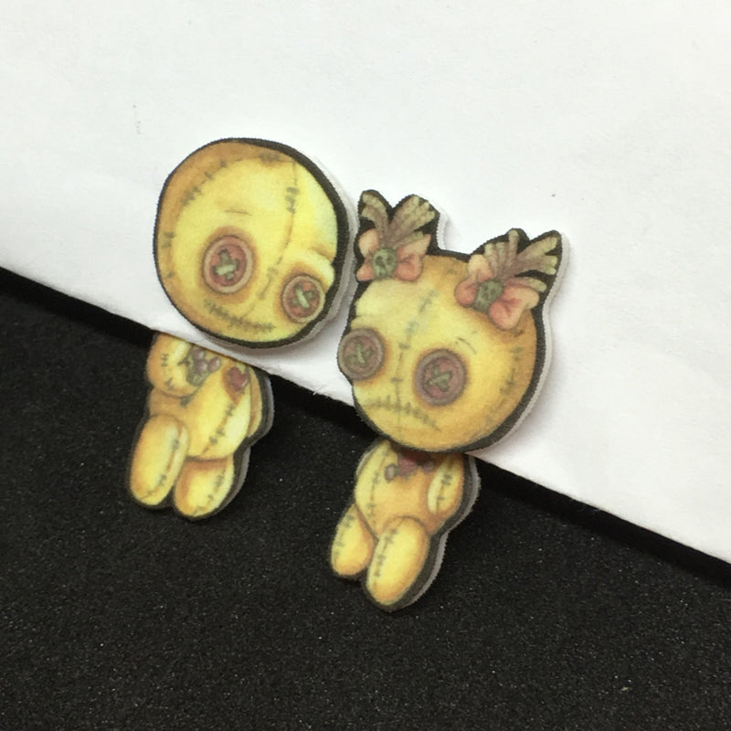 VooDoo Doll Illusion Earrings