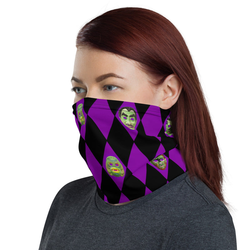 Vintage Monster Masks Neck Gaiter