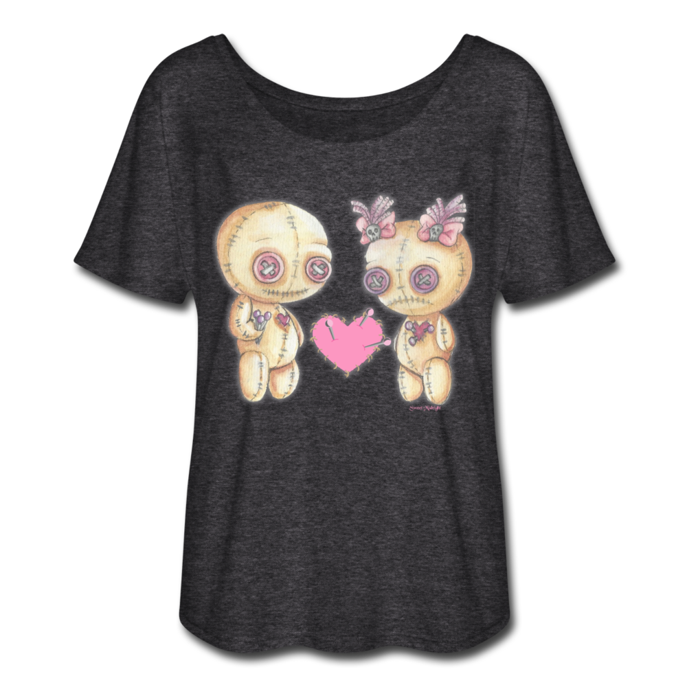 VooDoo Love Flow T Shirt - charcoal gray