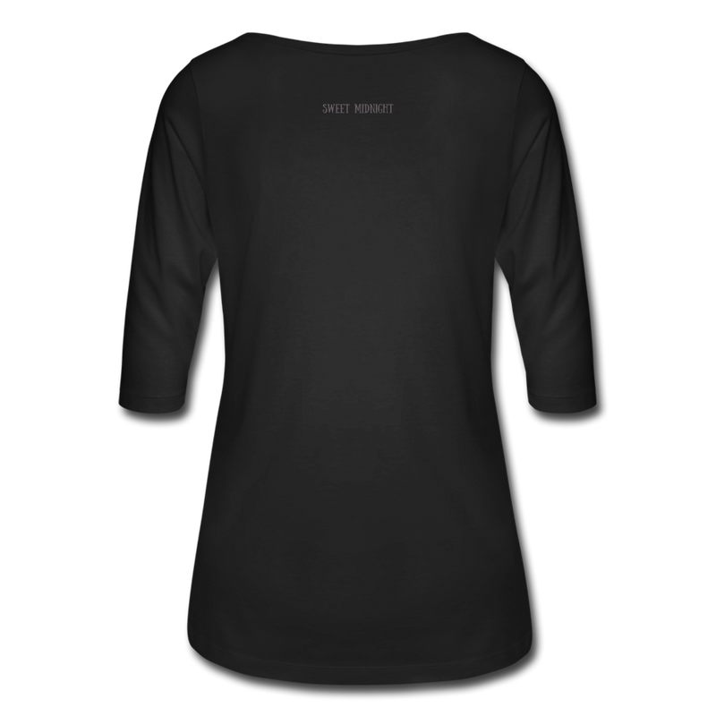 Vampire Mouse Women's 3/4 Sleeve Shirt - black