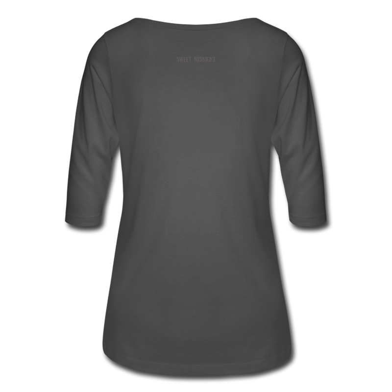 Vampire Mouse Women's 3/4 Sleeve Shirt - charcoal
