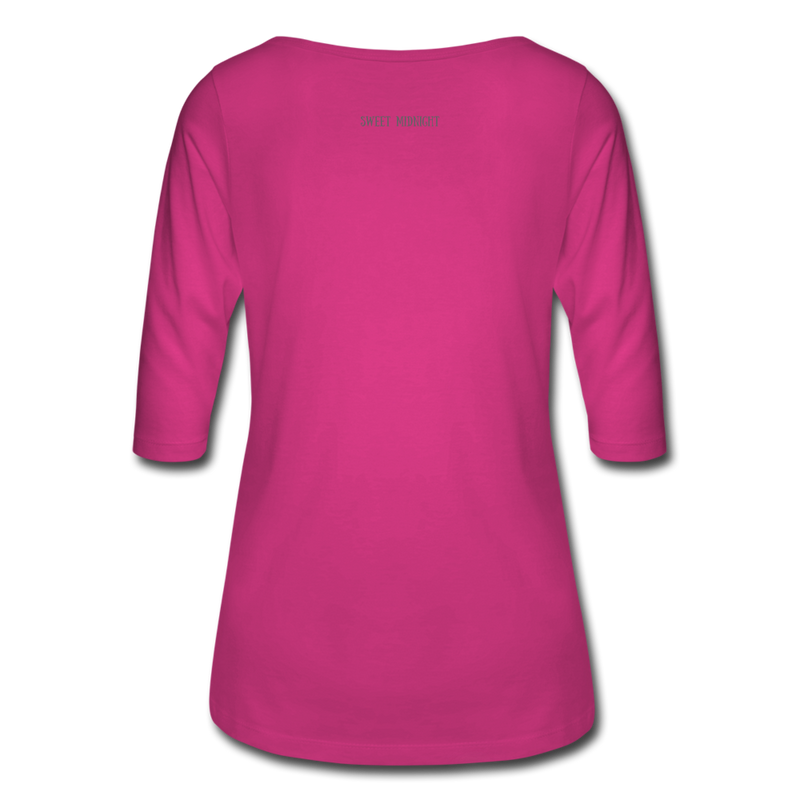 Vampire Mouse Women's 3/4 Sleeve Shirt - fuchsia