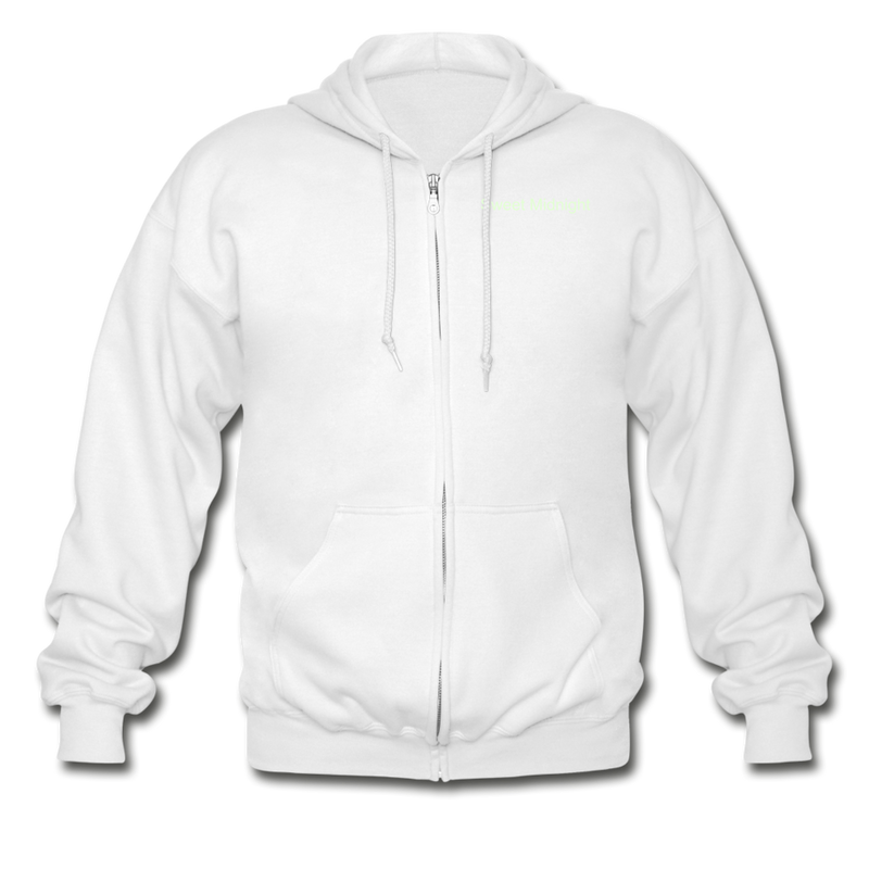 WitchyPoo Heavy Blend Adult Zip Hoodie - white