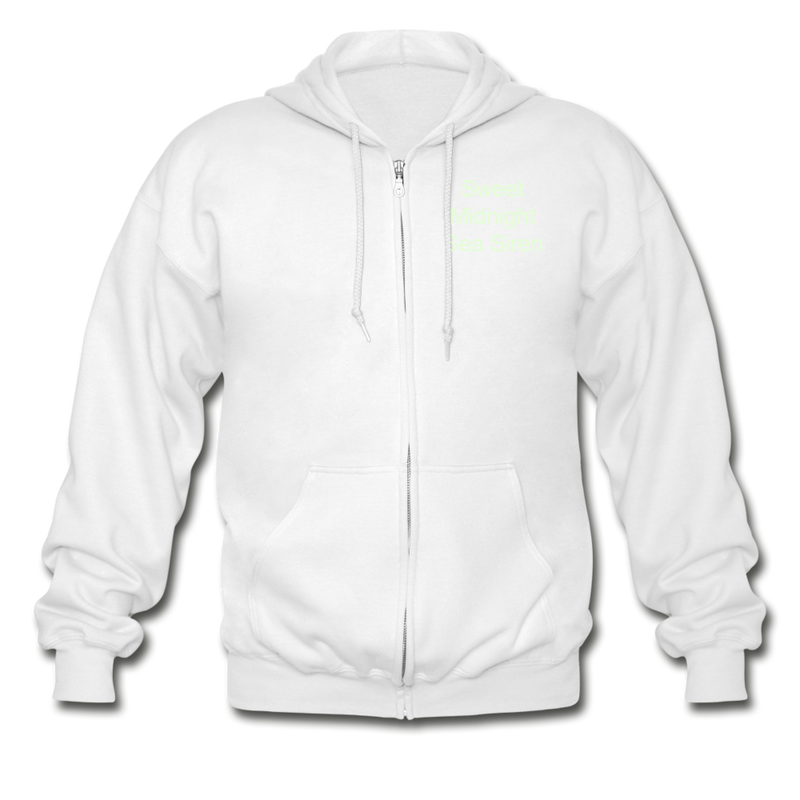 Sea Siren Gildan Heavy Blend Adult Zip Hoodie - white