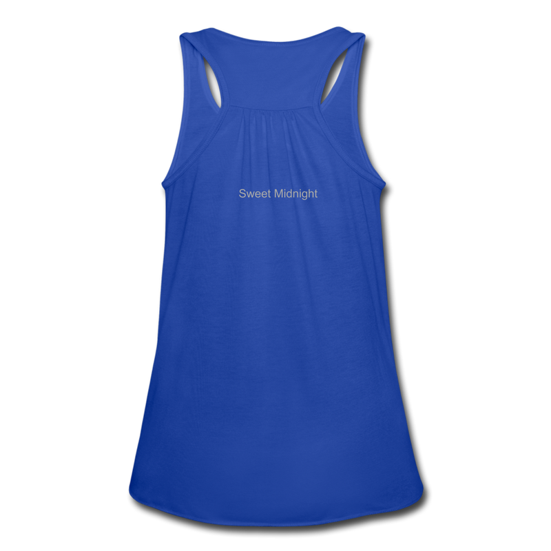Swampland Finishing School Women's Flowy Tank Top by Bella - royal blue