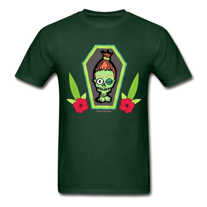 Shrunken Sam Cotton Adult T-Shirt - forest green