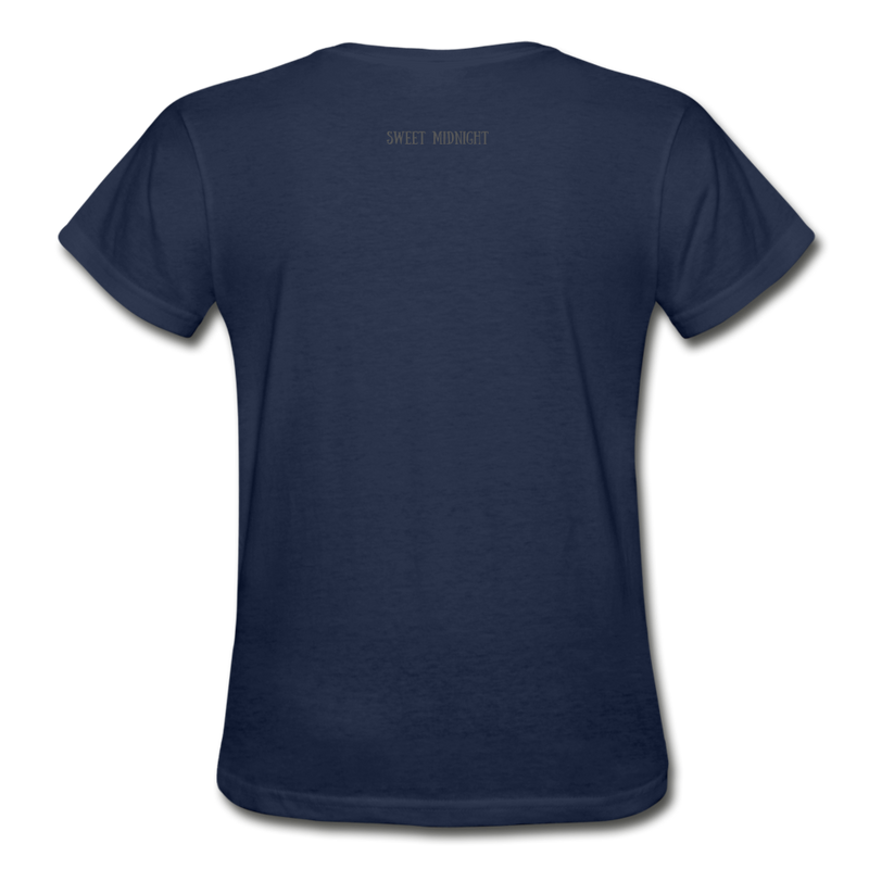 Lure Me Under the Sea Gildan Ultra Cotton Ladies T-Shirt - navy