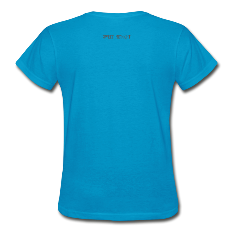 Lure Me Under the Sea Gildan Ultra Cotton Ladies T-Shirt - turquoise