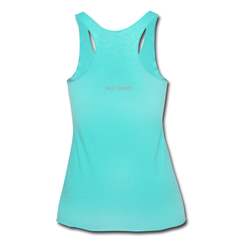 Lure Me Under the Sea Women's Tri-Blend Racerback Tank - turquoise