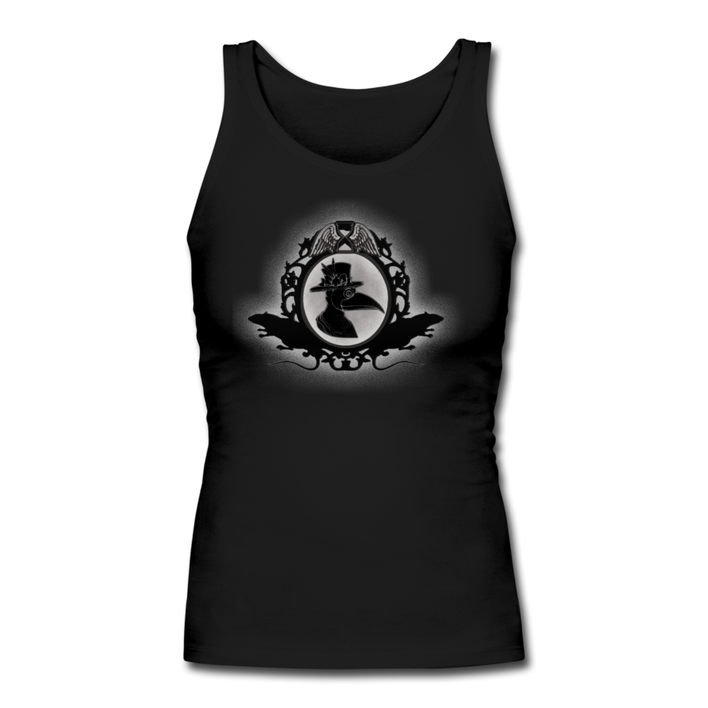 Plague Doctor Women's Longer Length Fitted Tank - black